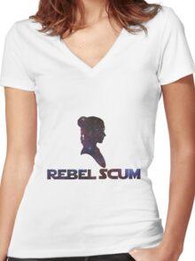 Princess - Scum Women's Fitted V-Neck T-Shirt
