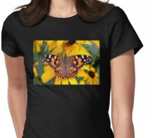 Painted Lady Butterfly Womens Fitted T-Shirt