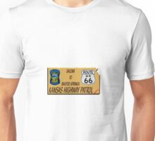 Kansas Highway patrol  Route 66 Map Design Unisex T-Shirt