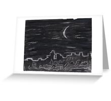 Midnight Grafitti Greeting Card