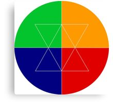 Colorful Geometry Circle Design Canvas Print