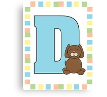 D is for Dog Canvas Print