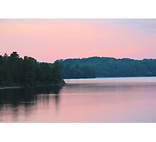 Lakeside Sunset  Photographic Print