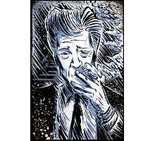 David Lynch Art illustration wild at heart eraserhead eraser head avant garde smoking twin peaks mulholland drive lost highway Joe badon Photographic Print