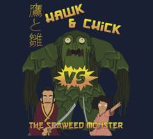 Hawk and Chick VS the Seaweed Monster Kids Clothes