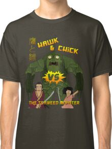Hawk and Chick VS the Seaweed Monster Classic T-Shirt