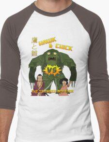 Hawk and Chick VS the Seaweed Monster Men's Baseball ¾ T-Shirt