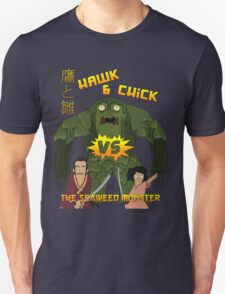 Hawk and Chick VS the Seaweed Monster Unisex T-Shirt