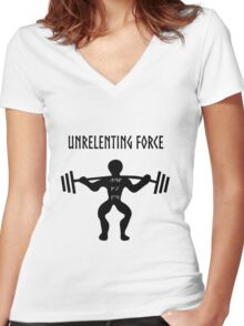 UNRELENTING FORCE Women's Fitted V-Neck T-Shirt