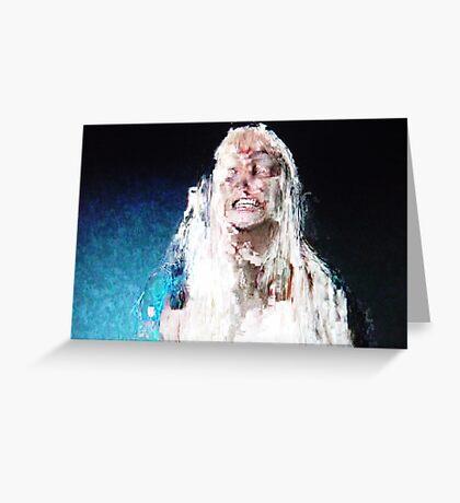 TV Demon 3 Greeting Card