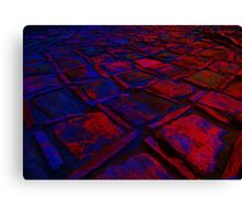 Square Stones Pathway Number 30 Canvas Print