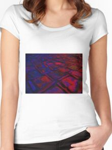Square Stones Pathway Number 30 Women's Fitted Scoop T-Shirt