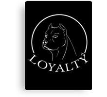 Pitbull - LOYALTY (white outline version) Canvas Print