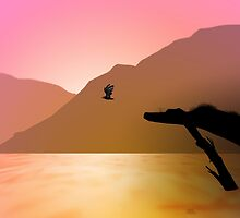 Sunset Flight by parrotproducts