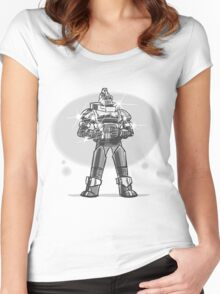 Robot from the future with sparkles Women's Fitted Scoop T-Shirt