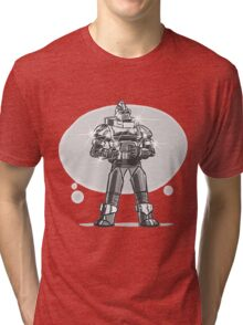 Robot from the future with sparkles Tri-blend T-Shirt