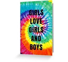 Girls/Girls/Boys Lyrics (Panic! At The Disco) Greeting Card