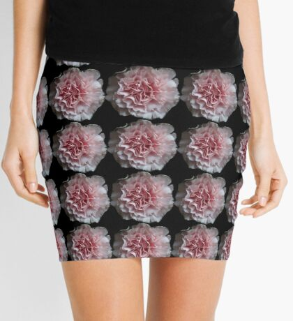 Pale Pink Flowers Mini Skirt
