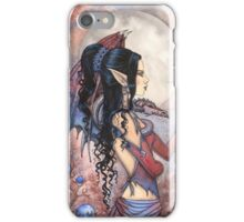 Dragon Girl Gothic Fantasy Art by Molly Harrison iPhone Case/Skin