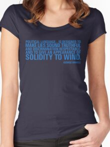 Political Language Women's Fitted Scoop T-Shirt