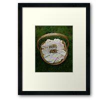 Basket of goodies - Next years Easter Bunnies! Framed Print