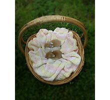 Basket of goodies - Next years Easter Bunnies! Photographic Print