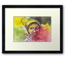 A Black Woman - nothing else Framed Print