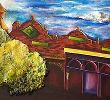 Old building, Kyneton, in red  by MIchelle Thompson