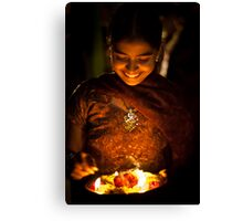 the light on her face Canvas Print