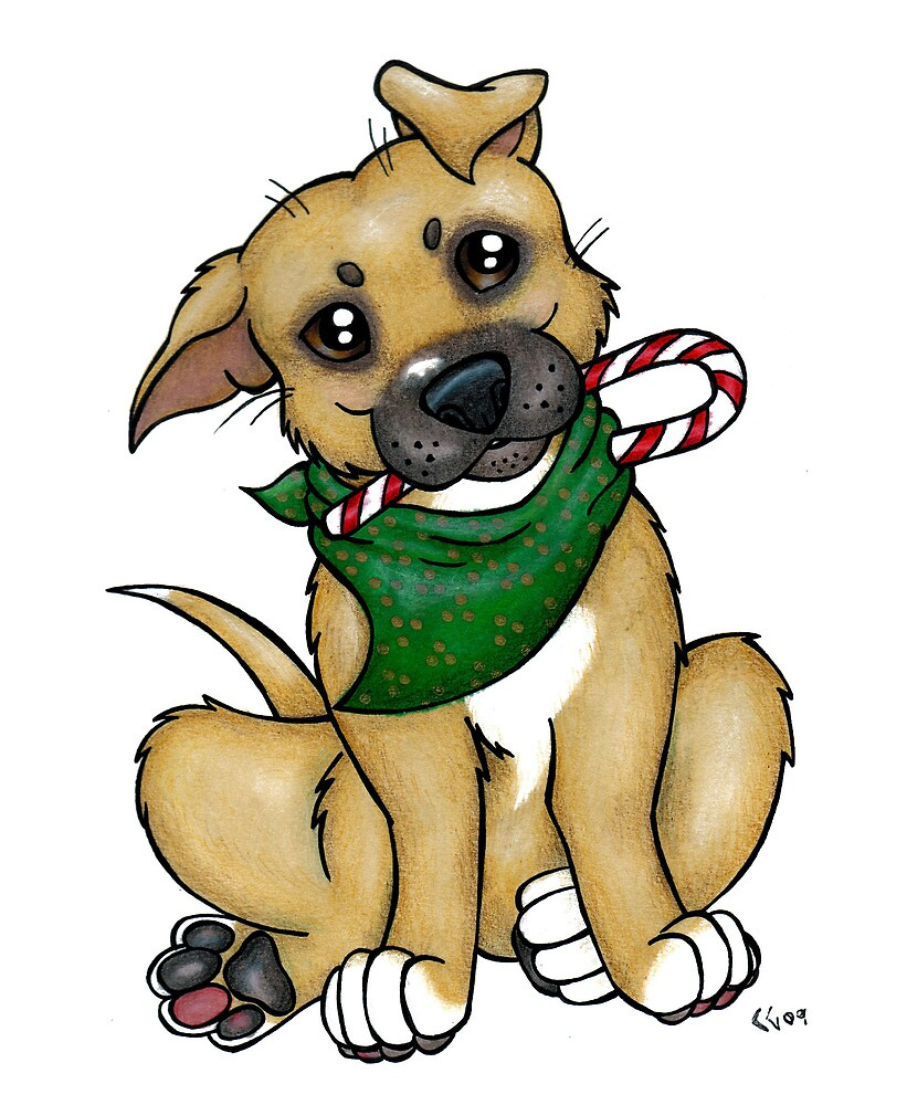 A Christmas Pittie (Pit Bull) by CGafford
