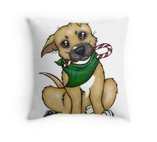 A Christmas Pittie (Pit Bull) Throw Pillow