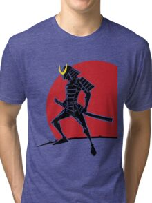 Land of the Rising Sun - Samurai Warrior Tri-blend T-Shirt