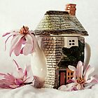 Little Teapot And Magnolias by Evita