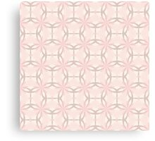 Romantic Tracery in Pink Canvas Print