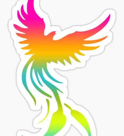 Colorful mythical bird Phoenix Sticker