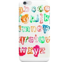 Alphabet Soup iPhone Case/Skin