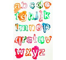 Alphabet Soup Photographic Print
