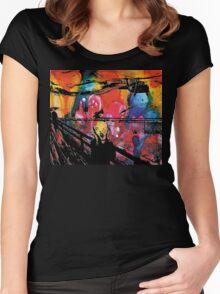 Nebular Scream Women's Fitted Scoop T-Shirt