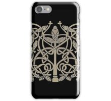 Celtic Leaves Knotwork One iPhone Case/Skin