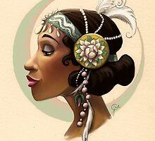 Tribal Princess Tiana by jesschrysler
