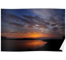 Sunrise over the Estuary Poster
