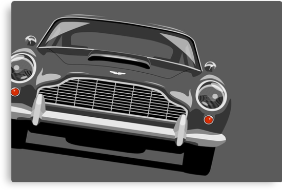 Aston Martin DB5 by Michael Tompsett