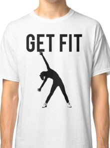 Get Fit Exercise Motivation Burpees Squats Lifting Classic T-Shirt