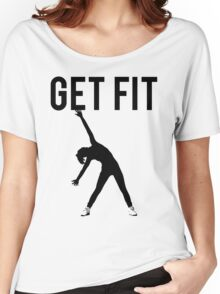 Get Fit Exercise Motivation Burpees Squats Lifting Women's Relaxed Fit T-Shirt