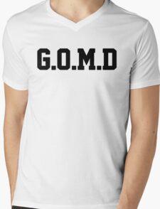 G.O.M.D [GET OFF MY DICK] Black Mens V-Neck T-Shirt