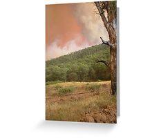 Fire, Wandiligong Greeting Card