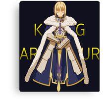 fate zero saber king arthur anime manga shirt Canvas Print