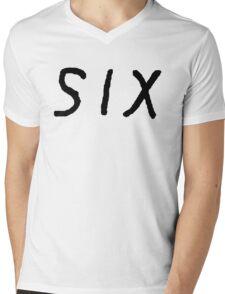 SIX [Black] Mens V-Neck T-Shirt