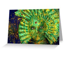 Venetian carnival fantasies Greeting Card