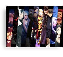 fate zero stay night saber kiritsugu rider natalia anime manga shirt Canvas Print